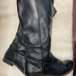 Frye Black Leather Button Boot Size 9